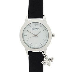 Mantaray - Ladies black bee charm analogue watch