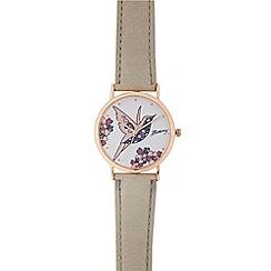 Mantaray - Ladies pink bird analogue watch