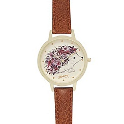 Mantaray - Ladies brown hedgehog analogue watch