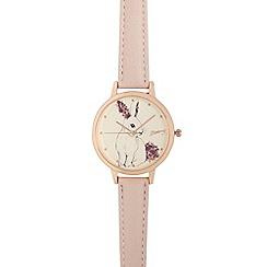 Mantaray - Ladies pink rabbit analogue watch