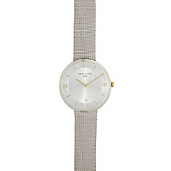 Infinite - Ladies silver plated mesh watch