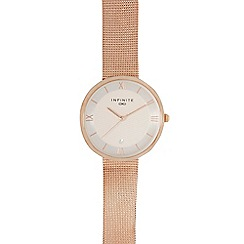 Infinite - Ladies gold plated mesh watch