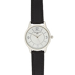 Infinite - Ladies black analogue watch