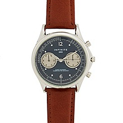 Infinite - Men's brown mock multi dial watch