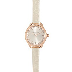 Red Herring - Champagne and rose gold curved lug watch