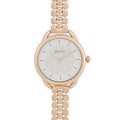 Mantaray - Ladies rose gold plated bracelet watch
