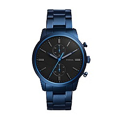 Fossil - Men's blue 'townsman' bracelet watch