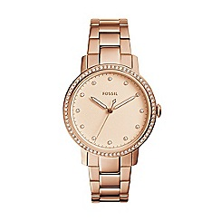 Fossil - Ladies rose gold 'Neely' quartz bracelet watch