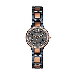 Fossil - Ladies multicoloured 'Virginia' quartz bracelet watch