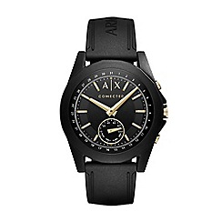 Armani Exchange - Men's black and gold hybrid smart watch