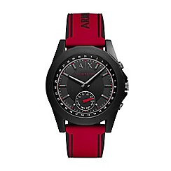 Armani Exchange - Men's red and black hybrid smart watch