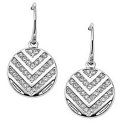 Fossil - Silver chevron 'Vintage Glitz' drop earrings