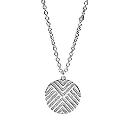 Fossil - Silver chevron 'Vintage Glitz' pendant