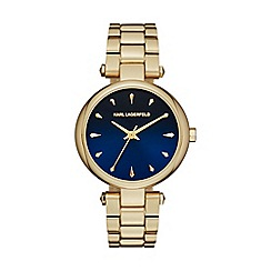Karl Lagerfeld - Ladies gold 'Aurelie' quartz bracelet watch