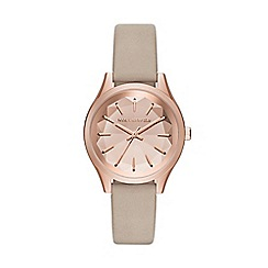 Karl Lagerfeld - Ladies brown 'Janelle' quartz leather strap watch