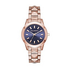 Karl Lagerfeld - Ladies rose gold 'Labelle Stud' quartz bracelet watch