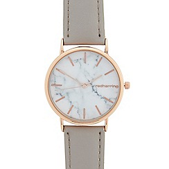 Red Herring - Ladies grey marble analogue watch