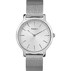 Timex - Ladies skyline silver dial mesh bracelet