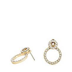 Pilgrim - Gold plated crystal 'Victoria' stud earrings