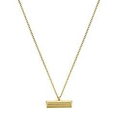 Pilgrim - Gold plated crystal 'Emma' necklace