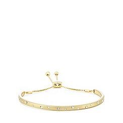 Pilgrim - Gold plated crystal 'Hannah' bracelet