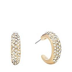 Pilgrim - Gold plated crystal 'Adey' hoop earrings