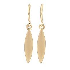 Pilgrim - Gold plated 'Luna' drop earrings