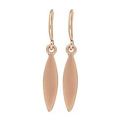 Pilgrim - Rose gold plated 'Luna' drop earrings