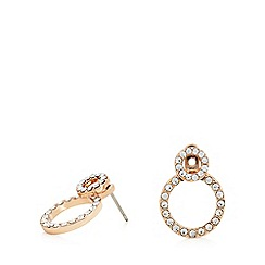 Pilgrim - Rose gold plated crystal 'Victoria' stud earrings