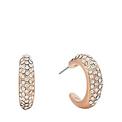 Pilgrim - Rose gold plated crystal 'Adey' hoop earrings