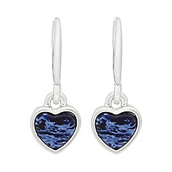 Pilgrim - Silver plated blue 'Mila' drop earrings