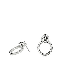 Pilgrim - Silver plated crystal 'Victoria' stud earrings