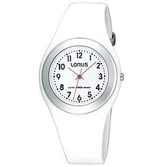 Lorus - Kids' white round dial watch r2399fx9