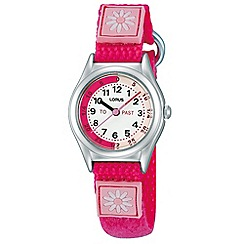 Lorus - Kids' pink daisy watch rg253kx9
