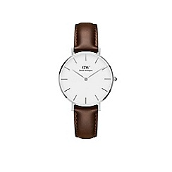 Daniel Wellington - Ladies brown 'bristol' quartz leather strap watch