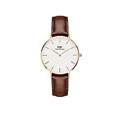 Daniel Wellington - Ladies brown 'maw' quartz leather strap watch