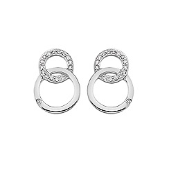 Hot Diamonds - Silver 'Bliss' interlocking circles stud earrings