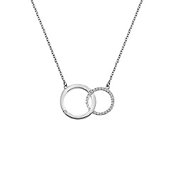 Hot Diamonds - Silver 'Bliss' interlocking circles pendant necklace