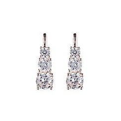 Anne Klein - Rose gold cubic zirconia linear earrings