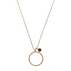 Pilgrim - Rose gold plated ring pendant necklace and stud earrings