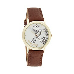 Floozie by Frost French - Ladies brown 'Time Flies' watch