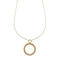 Pilgrim - Gold plated 2-in-1 ring necklace