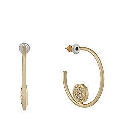 Pilgrim - Gold plated hoop earrings