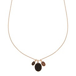 Pilgrim - Rose gold plated stone pendant necklace