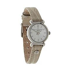 Bailey & Quinn - Ladies natural lizard textured leather strap watch