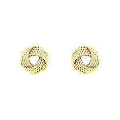 Finesse - Gold twisted rope knot earrings