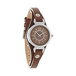 Bailey & Quinn - Ladies brown 'Ampersand' leather strap watch