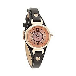 Bailey & Quinn - Ladies black textured rose gold watch