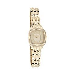 Bailey & Quinn - Ladies gold pave bezel bracelet watch