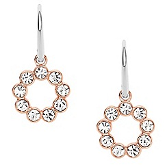 Fossil - Ladies glitz drop two tone earrings